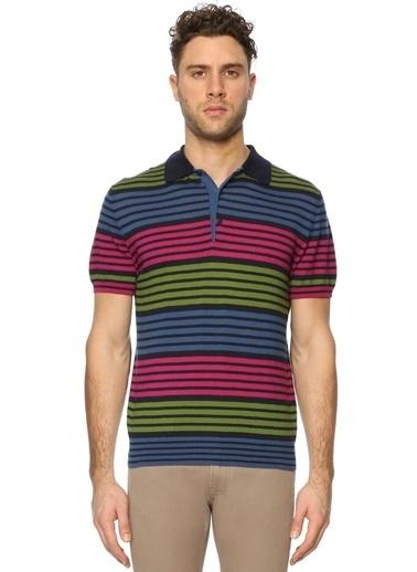 Etro Çizgili Polo Yaka Tişört Renkli